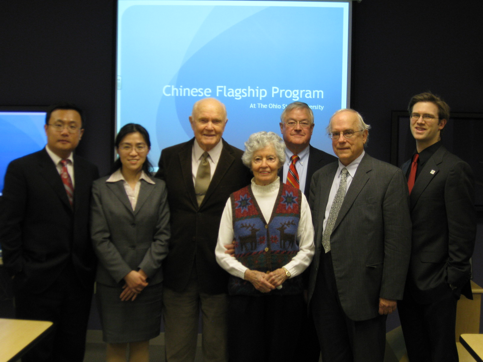 John & Annie Glenn visited Chinese Flagship