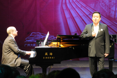 Michael Hegedus and Dr. Sun Pengxiang in performance.