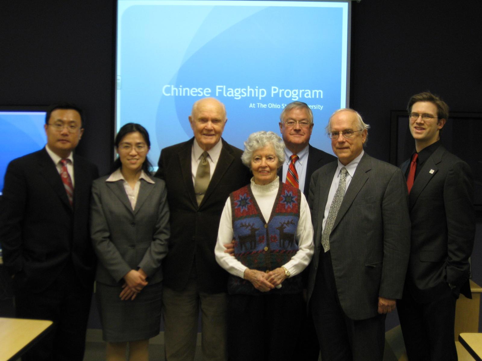 John & Annie Glenn visited Chinese Flagship